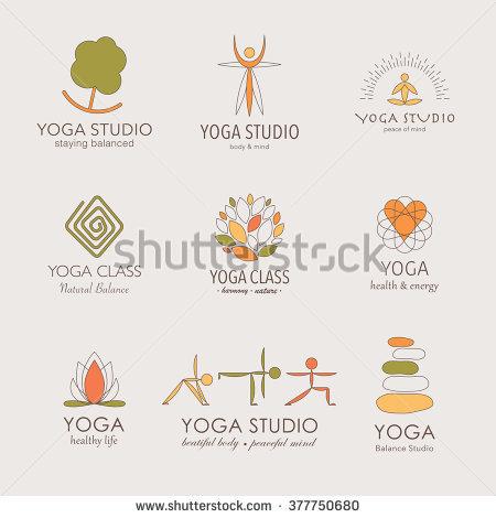 Logo vector clipart graphic design programs graphic transparent library Set Yoga Logos Graphic Design Elements Stock Vector 398681143 ... graphic transparent library