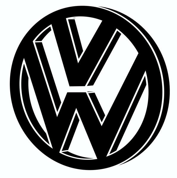 Logo volkswagen clipart free Vw Logo Silhouette free