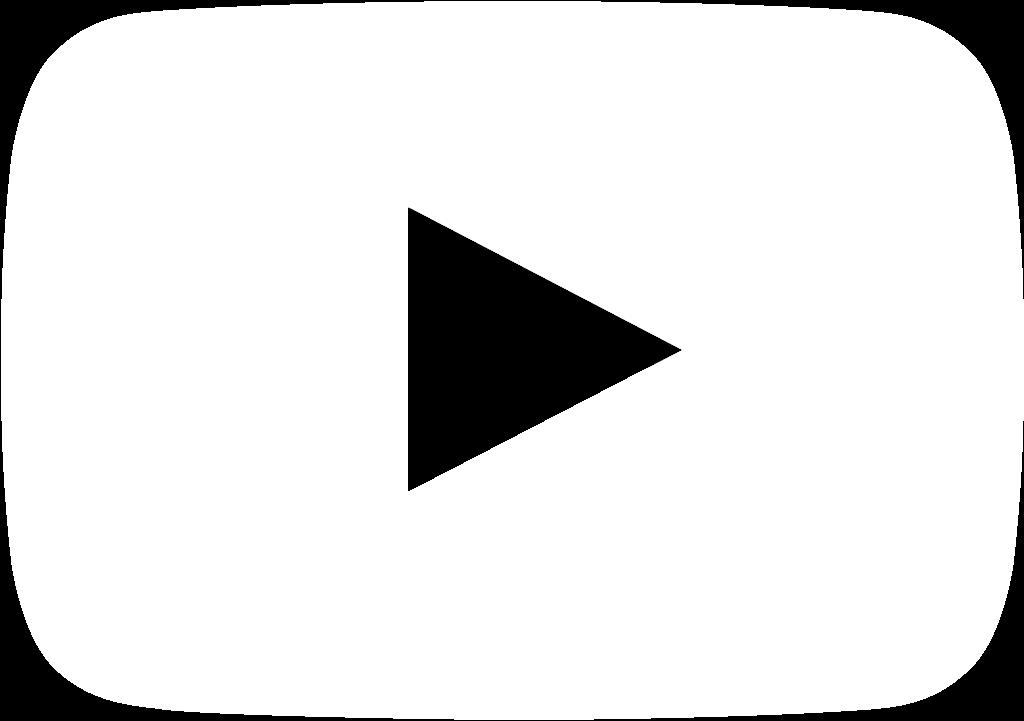 Logo youtube blanco clipart image free Free White Youtube Logo Transparent, Download Free Clip Art ... image free