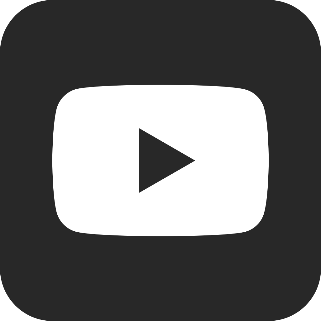 Logo youtube blanco clipart clip black and white library File:YouTube social dark squircle (2017).svg - Wikimedia Commons clip black and white library