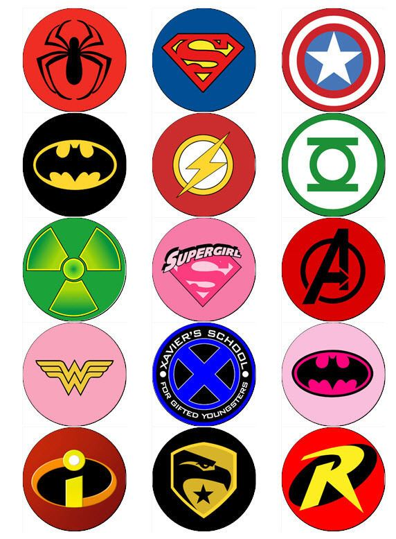 Logos superheroes clipart png download Superhero logo v2 edible wafer paper or icing sheet toppers ... png download