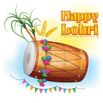 Lohri clipart clip art freeuse Happy Lohri Background premium clipart - ClipartLogo.com clip art freeuse