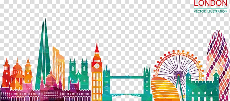 London background clipart graphic free library London illustration, Skyline Silhouette Illustration, London ... graphic free library