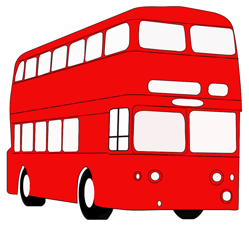 London bus clipart clipart black and white library OnlineLabels Clip Art - Double Decker London Bus clipart black and white library