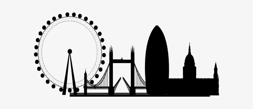 London clipart black and white free download Skyline Clipart Black And White - London Eye Line Drawing ... free download