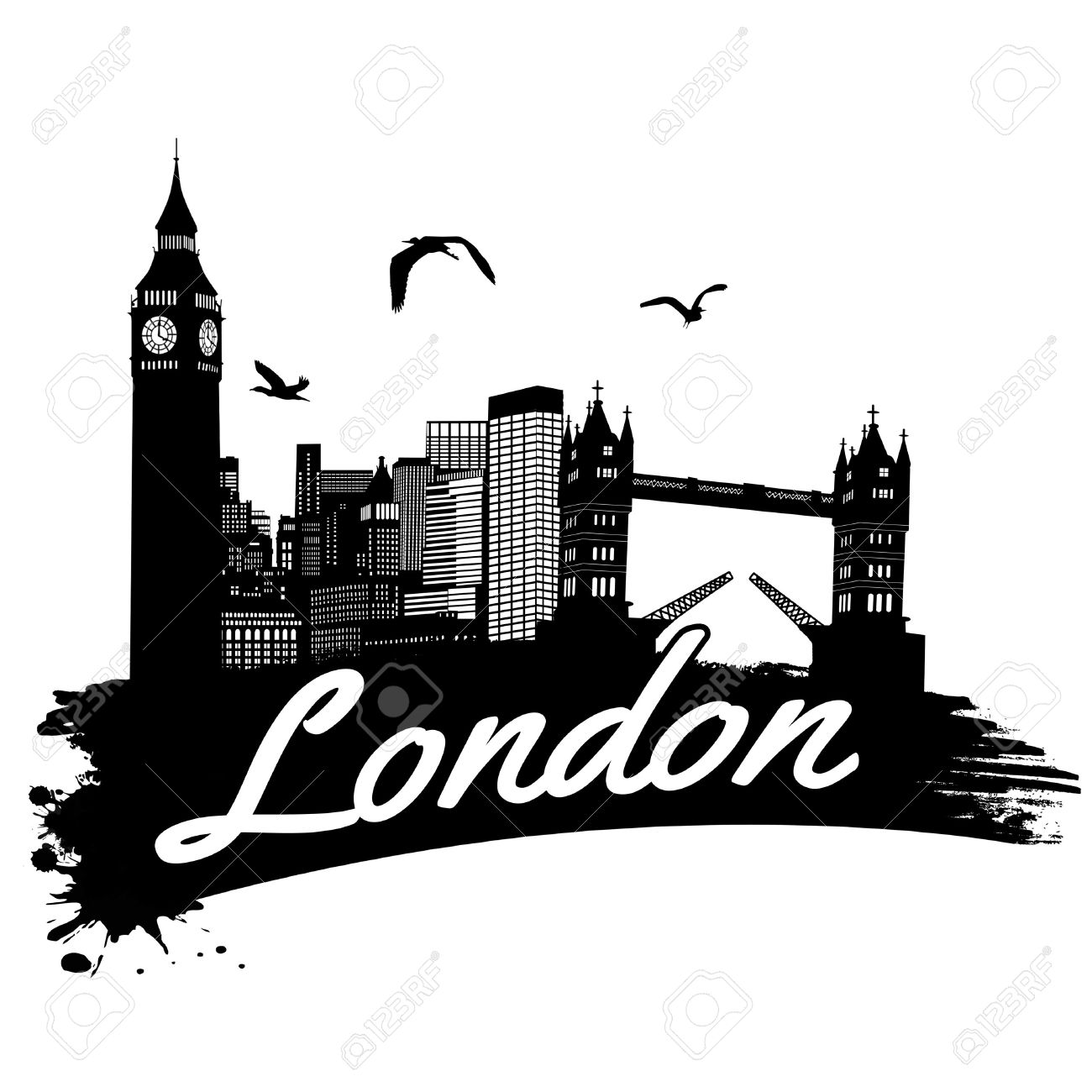 London clipart black and white image royalty free London Cliparts | Free download best London Cliparts on ClipArtMag.com image royalty free