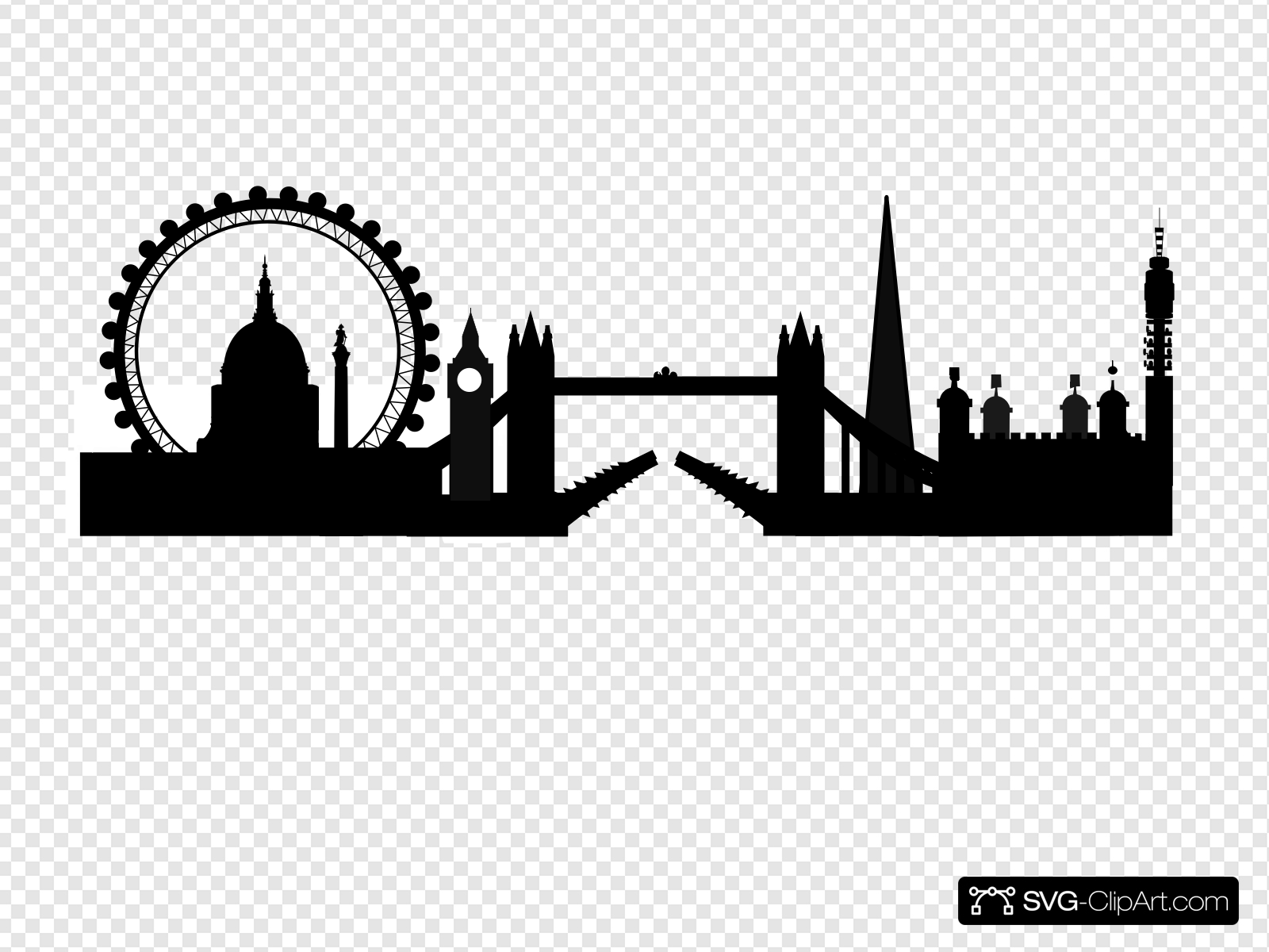 London clipart black and white picture free London Skyline Clip art, Icon and SVG - SVG Clipart picture free