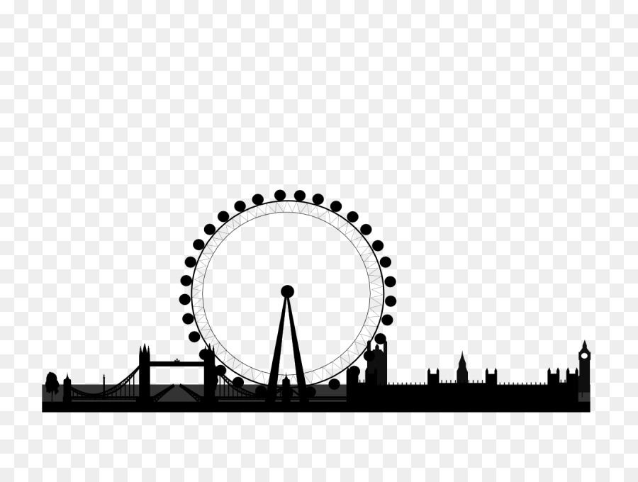 London eye clipart png black and white London Skyline Silhouette png download - 800*667 - Free Transparent ... png black and white
