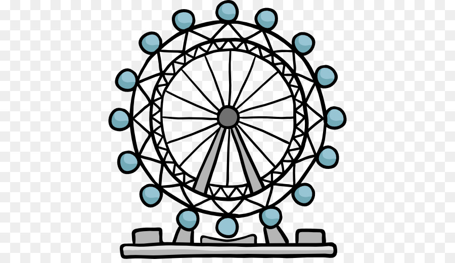 London eye clipart clip black and white stock Bicycle Cartoon png download - 512*512 - Free Transparent London png ... clip black and white stock