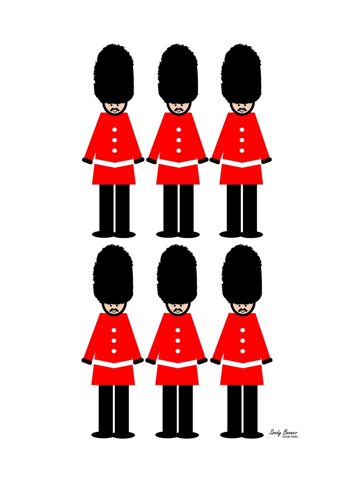 London guard clipart vector library download London guards soldier wall decor art print | urbanity interiors ... vector library download