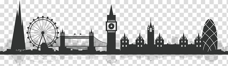 London skyline clipart banner library library London skyline illustration, City of London Silhouette, London city ... banner library library