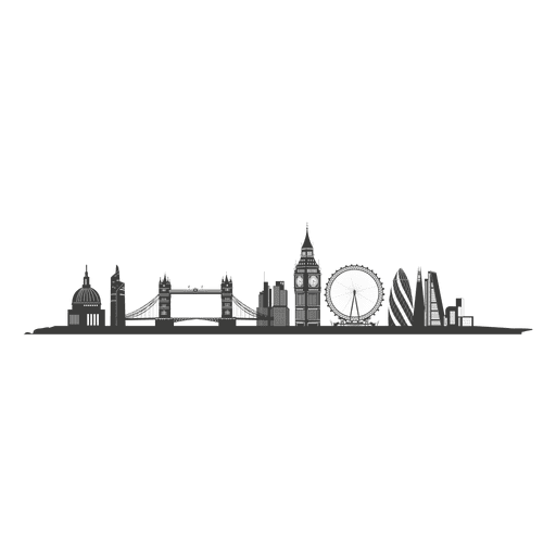 London skyline silhouette clipart svg library download London skyline silhouette - Transparent PNG & SVG vector svg library download