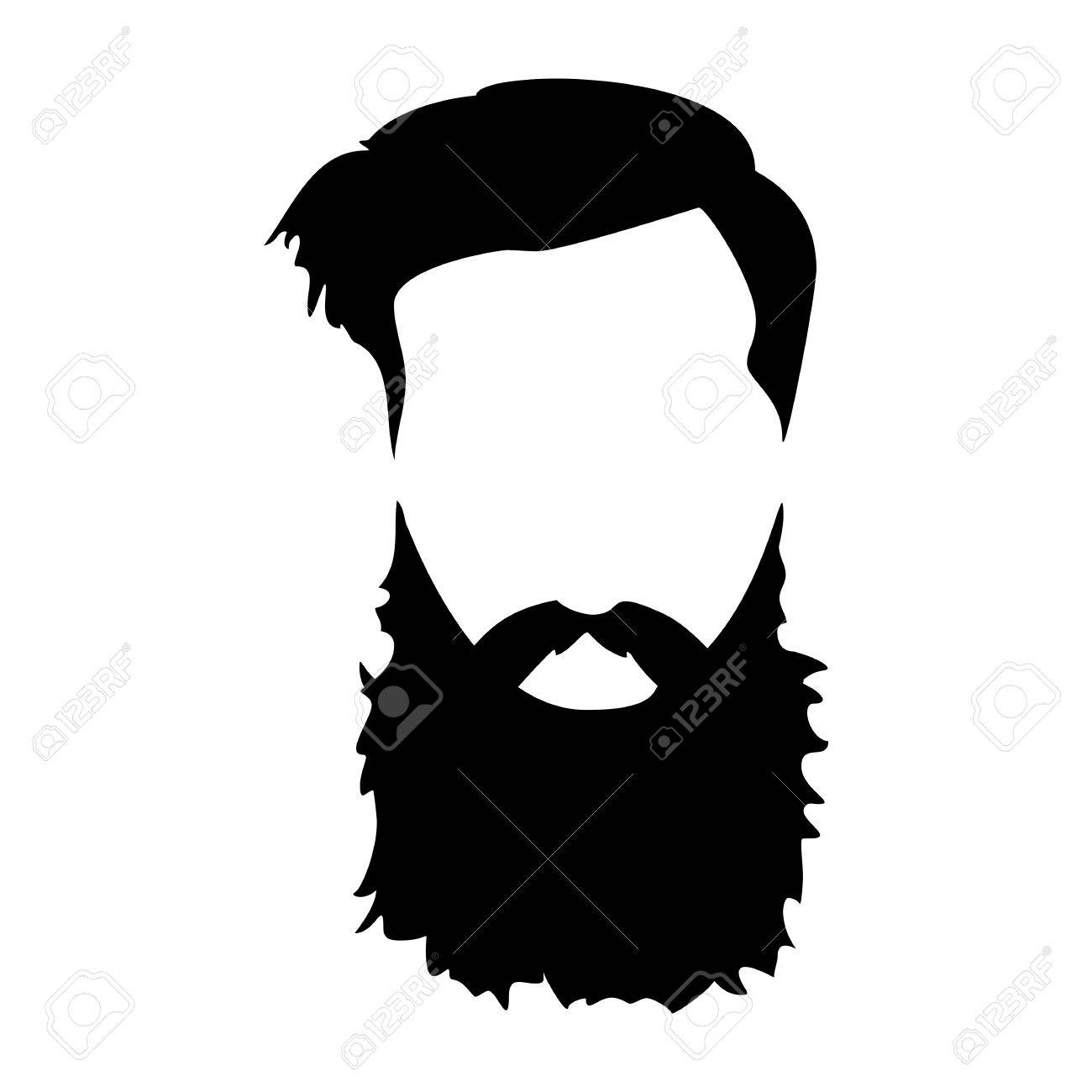 Long beard clipart graphic free library Hipster detailed hair and beards set. Fashion bearded man. Long ... graphic free library