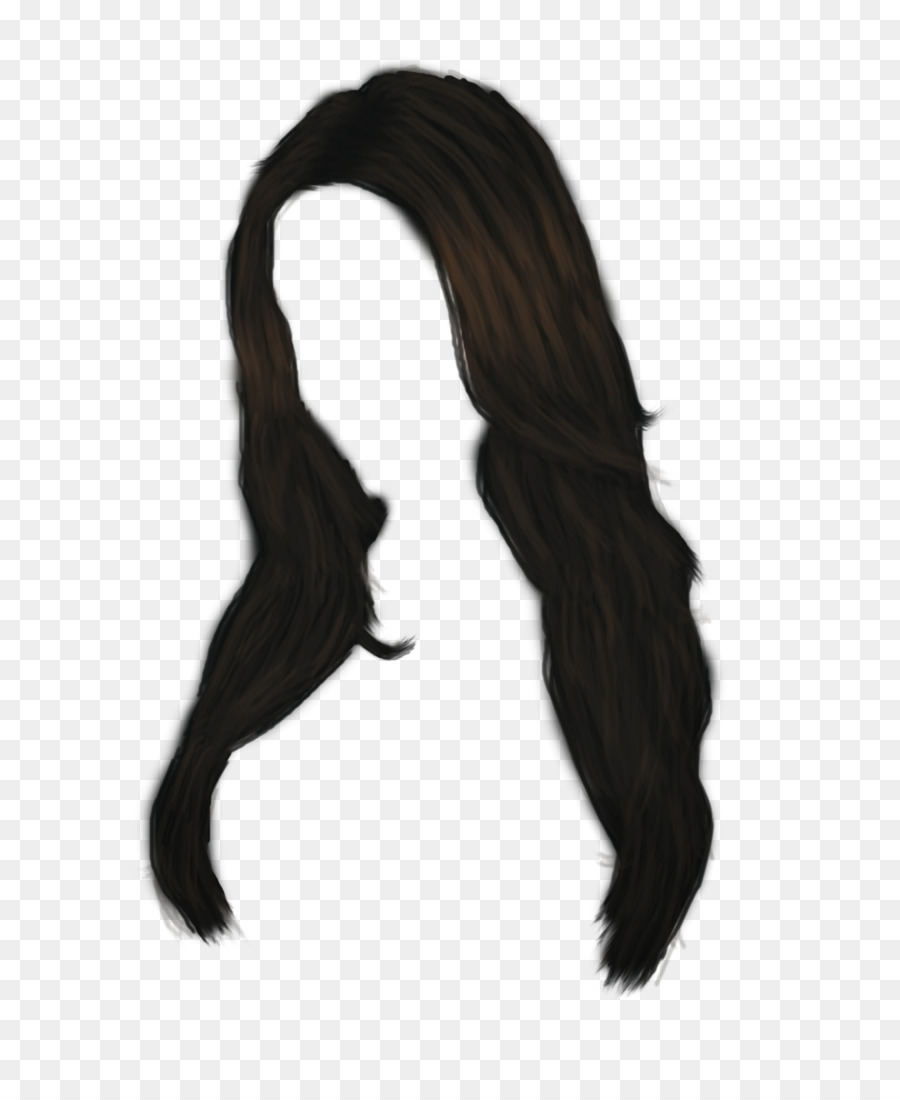 Library of long black hair graphic library png files