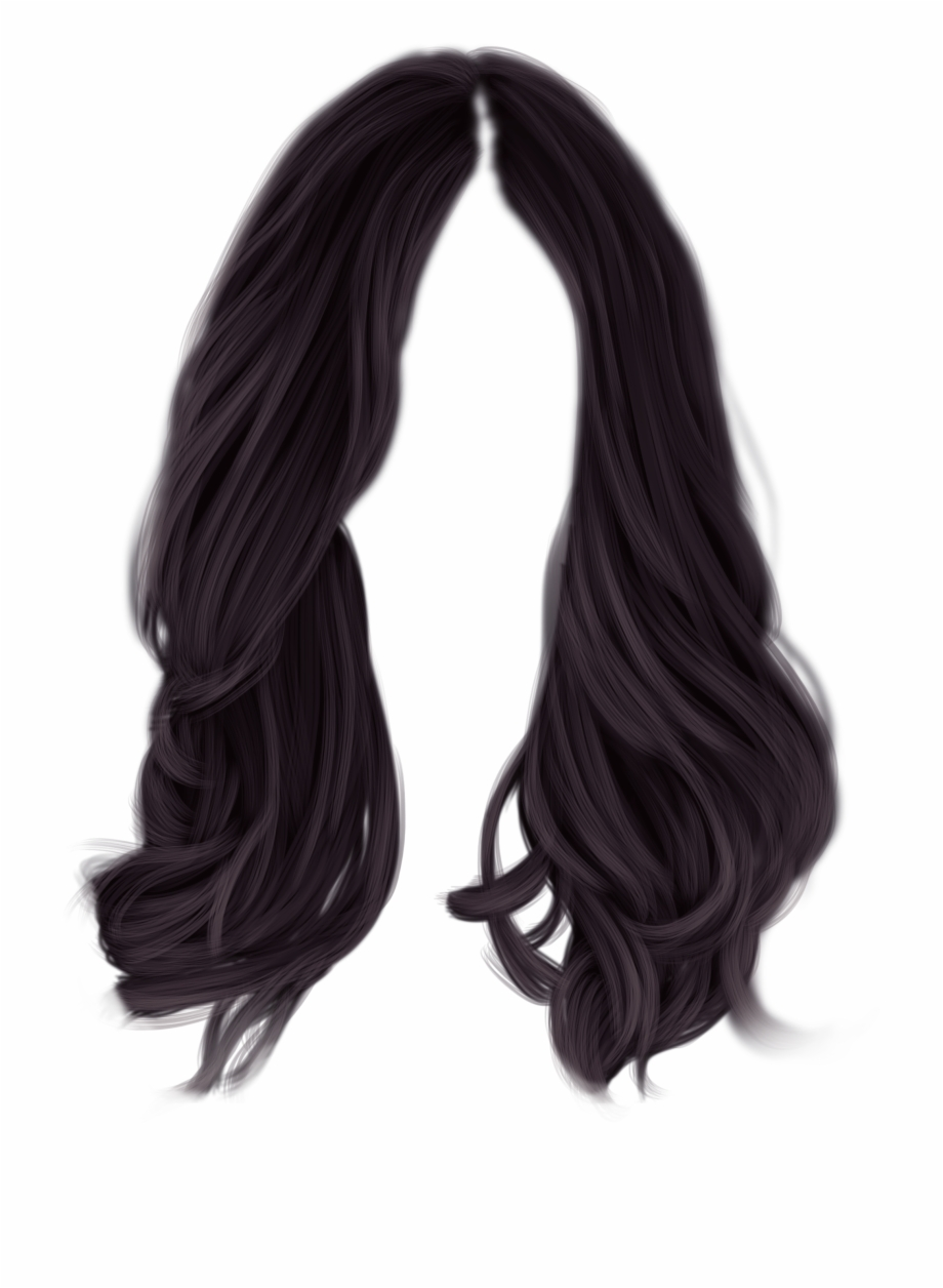 Long black hair clipart picture transparent stock Black Hair Png , Png Download - Black Hair Transparent Background ... picture transparent stock
