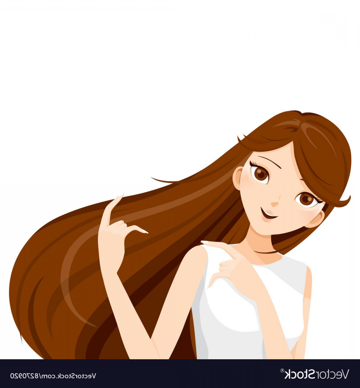 Long brown hair clipart png freeuse library Vector Brown Hair | BoozeWorthy png freeuse library