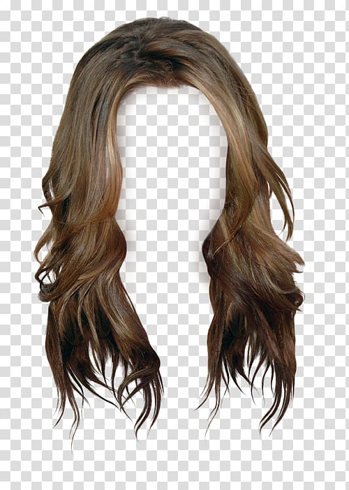 Long brown hair clipart banner black and white Brown wig, Brown hair Wig Long hair, wig transparent background PNG ... banner black and white