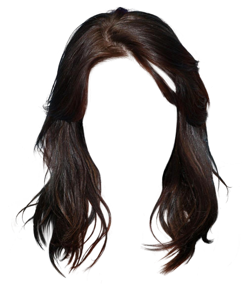 Long brown hair clipart picture black and white stock Long hair Brown hair Black hair Hairstyle - Western style long hair ... picture black and white stock