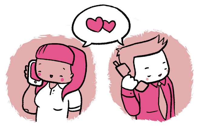 Long distance relationship skype clipart