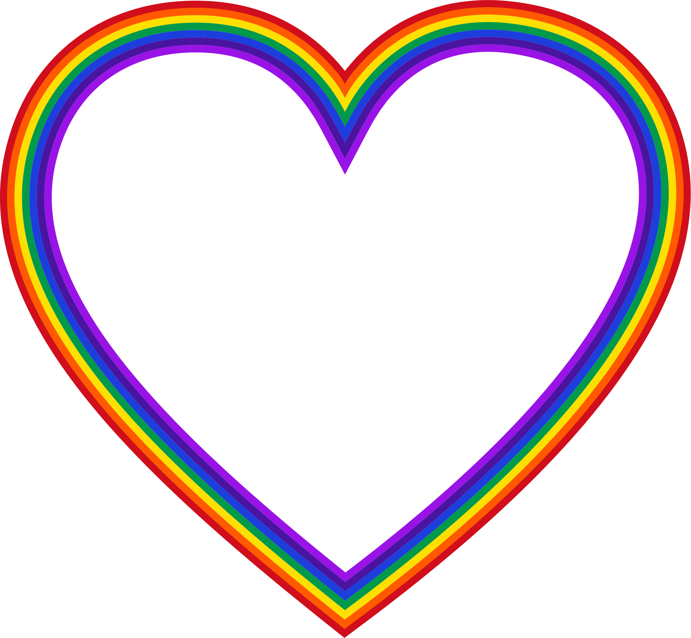 Long heart clipart png library stock Clipart - Rainbow Heart 5 png library stock