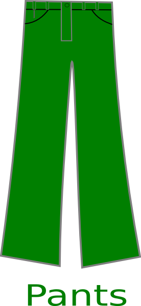 Long pants clipart picture free library Green Pants Clip Art at Clker.com - vector clip art online, royalty ... picture free library