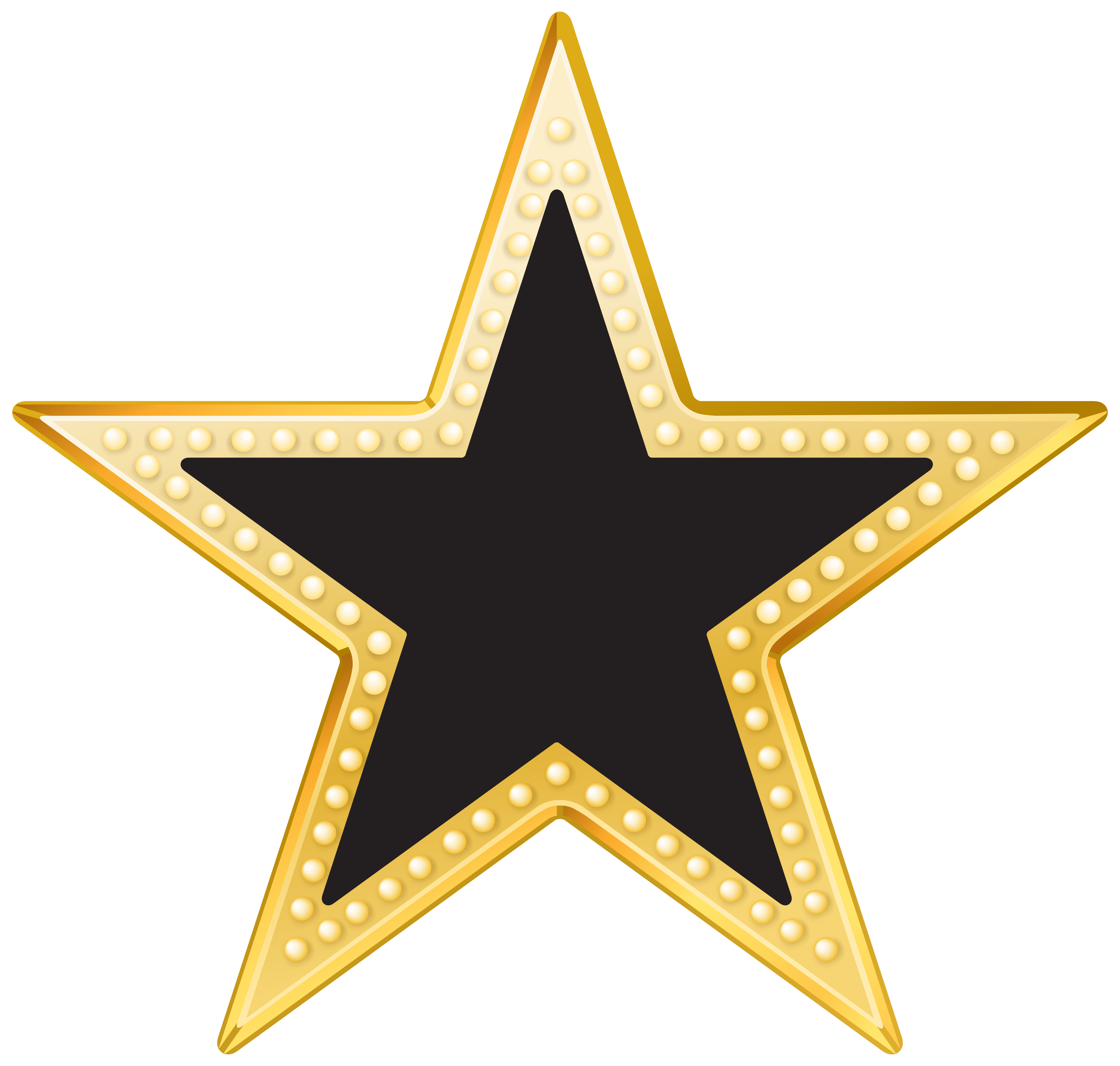 Long star clipart clip art free download Gold And Black Star PNG Transparent Clip Art Image clip art free download