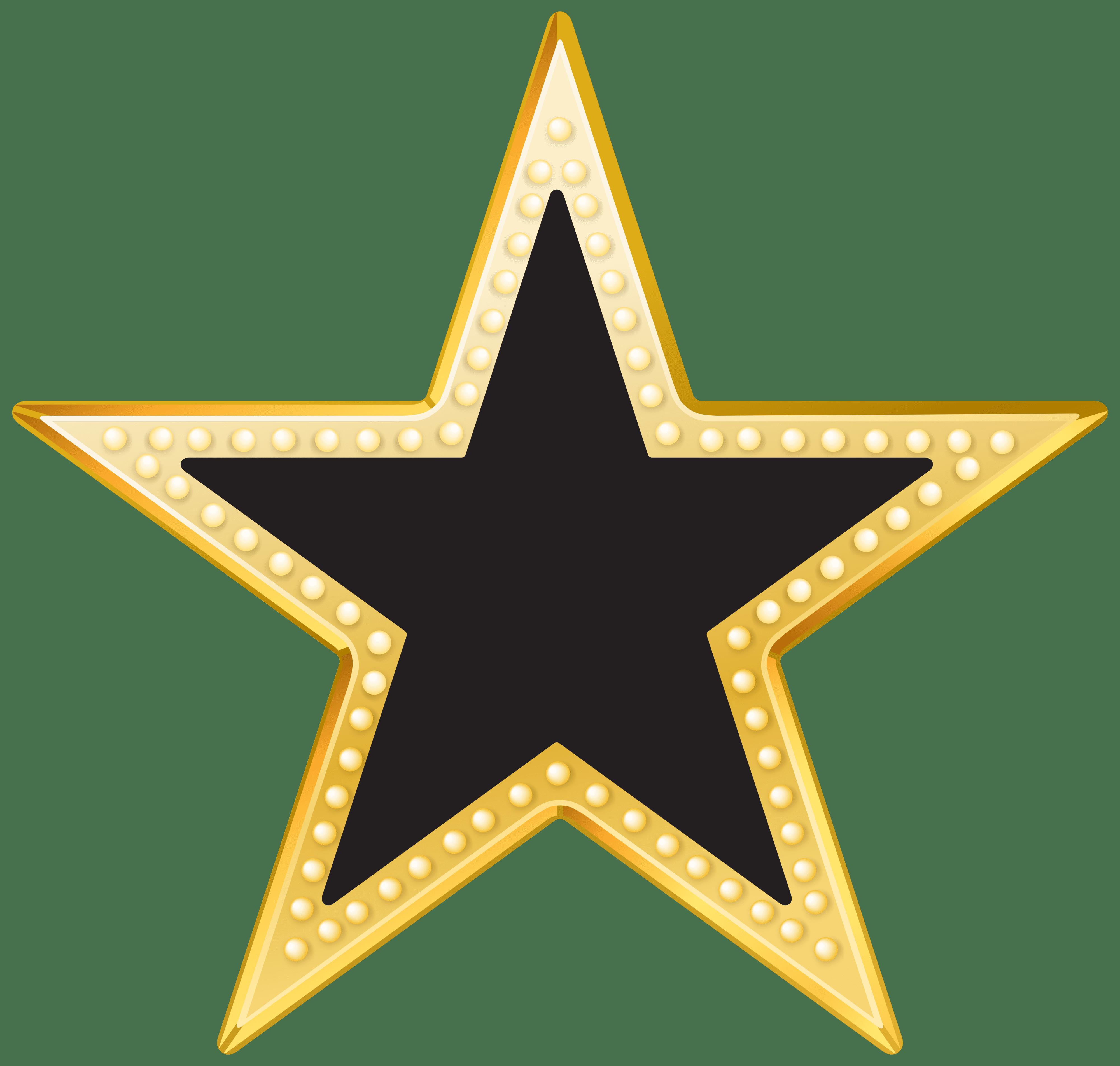 Transparent clipart star clip art freeuse library Gold And Black Star PNG Transparent Clip Art Image clip art freeuse library