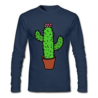Long t shirt clipart banner library download Amazon.com: LSNQCPM Men\'s Clipart Cactuses Long-Sleeve Cotton T ... banner library download