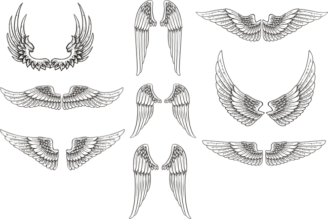 Long wings clipart picture free download Free Wing Vector, Download Free Clip Art, Free Clip Art on Clipart ... picture free download