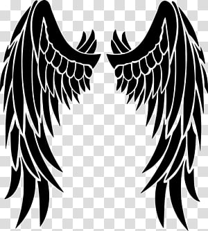 Long wings clipart royalty free library White wings illustraton, Fallen angel Devil Wing Demon, Devil\\\'s ... royalty free library