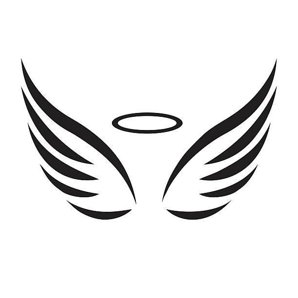 Long wings clipart picture black and white library Cartoon Angel Wings Clipart | Free download best Cartoon Angel Wings ... picture black and white library