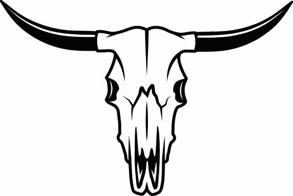 Longhorn steer head clipart vector black and white stock Longhorn Clipart | Free download best Longhorn Clipart on ... vector black and white stock