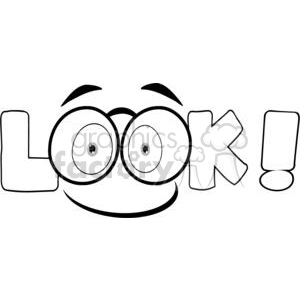 Look clipart black and white clipart transparent download Cartoon-Text-Look-With-Glasses clipart. Royalty-free clipart # 381229 clipart transparent download