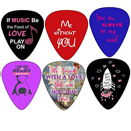 Look of surprise clipart husband and wife clip art royalty free library Creanoso Loving You Guitar Picks (12-Pack) - Unique Cool Romantic Gifts  Love for Him Boyfriend husband/Her wife Girls- Valentines day, Anniversary,  ... clip art royalty free library