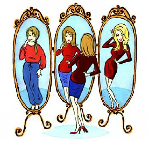 Looking at yourself in the mirror clipart clipart stock The Bump and Body Image | Beantown Momma clipart stock