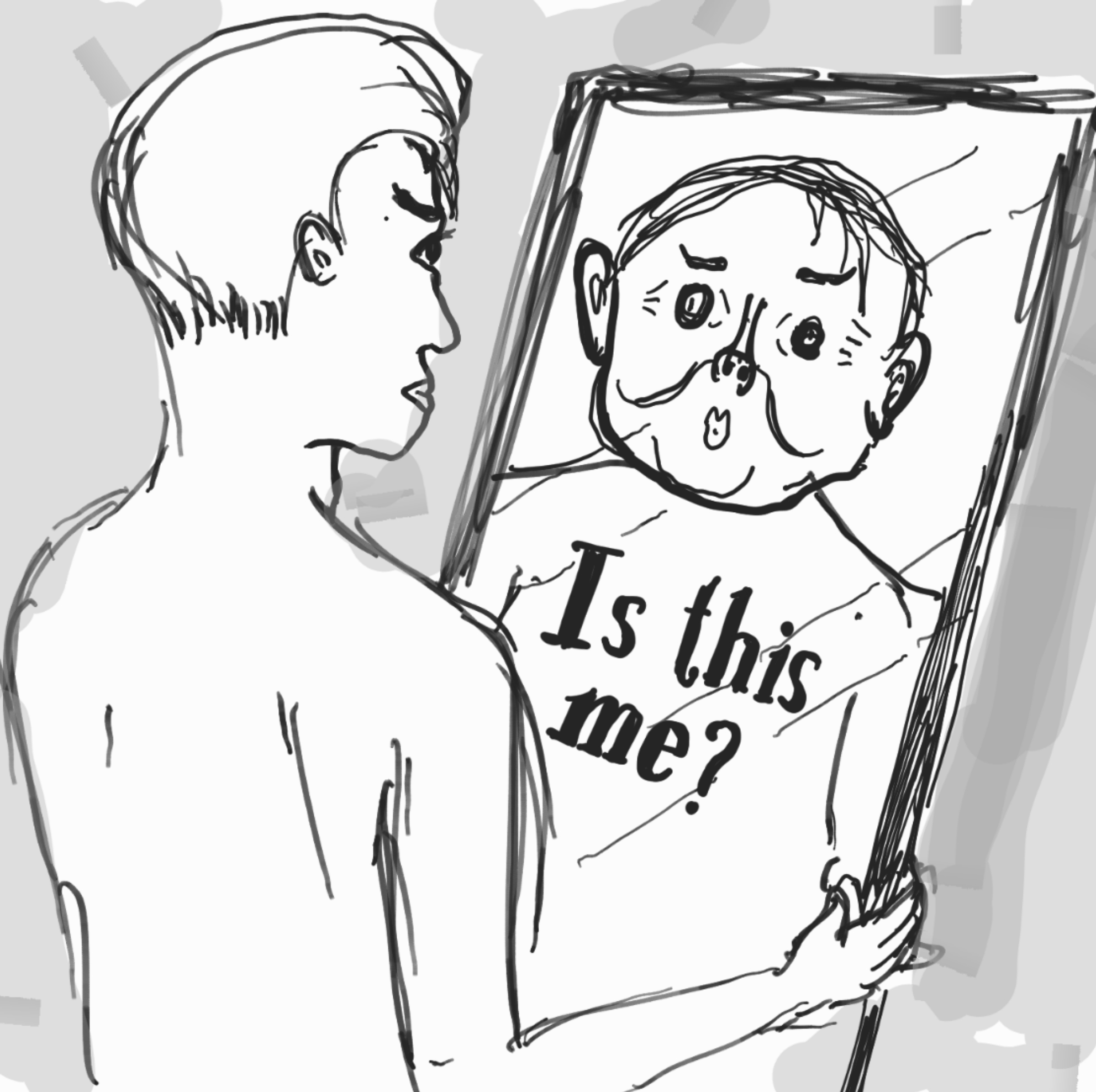 Looking at yourself in the mirror clipart suicide png Body dysmorphic disorder - Wikipedia png