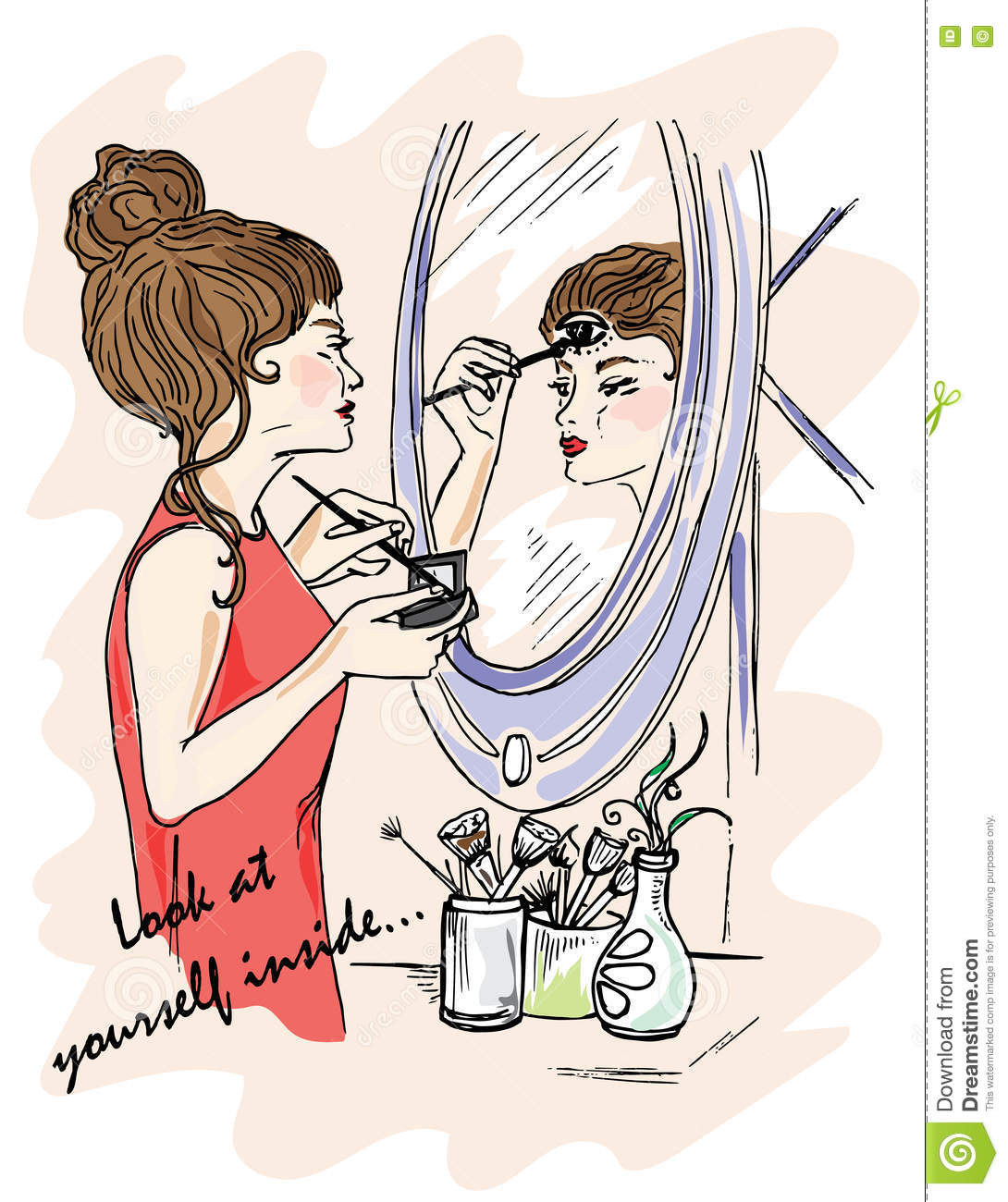 Looking at yourself in the mirror clipart jpg black and white stock Looking At Yourself In The Mirror Clipart jpg black and white stock