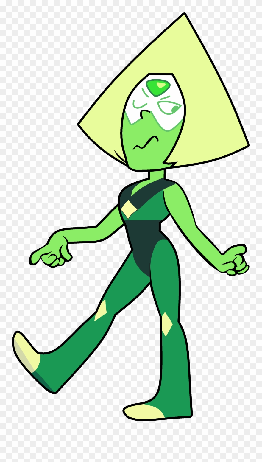 Looking back clipart picture transparent library Image Sassy Looking Back - Steven Universe Peridot Clipart (#694823 ... picture transparent library