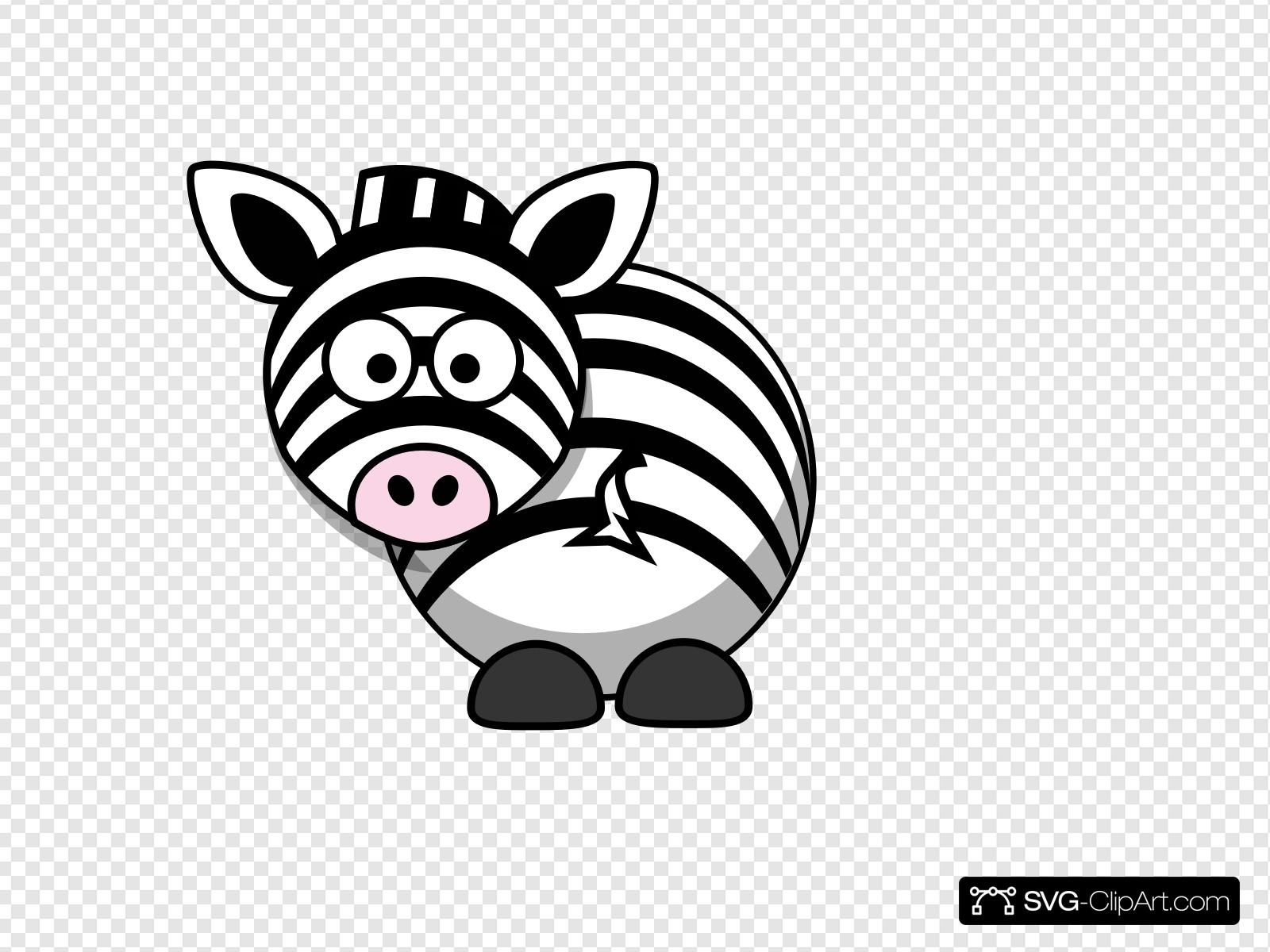 Looking back clipart clip black and white Zebra - Looking Back Clip art, Icon and SVG - SVG Clipart clip black and white