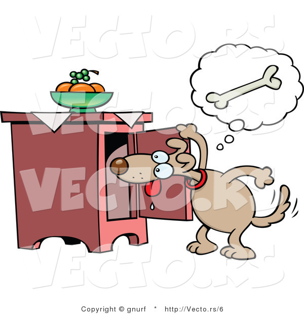 Looking for food clipart picture royalty free Vector of a Hungry Cartoon Dog Looking for Food by gnurf - #6 picture royalty free