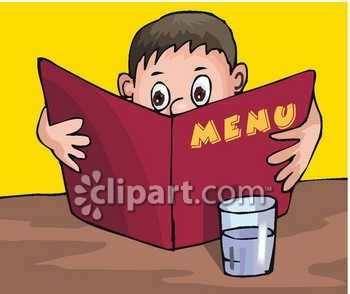 Looking for food clipart svg transparent library Boy Looking at a Restaurant Menu Clipart - Royalty Free Clipart Image svg transparent library