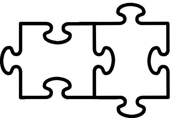 Puzzle pieces clipart black and white black and white 100+ Clipart Puzzle Pieces | ClipartLook black and white