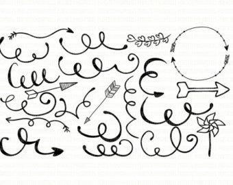 Loopy arrow clipart clip art transparent library Arrow monogram svg – Etsy clip art transparent library