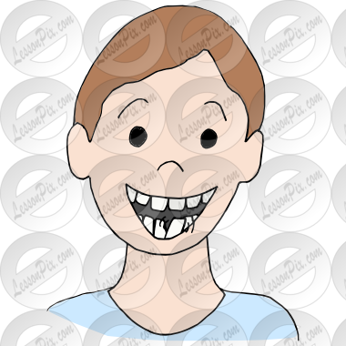 Loose tooth clipart clipart transparent library Loose Tooth Picture for Classroom / Therapy Use - Great ... clipart transparent library