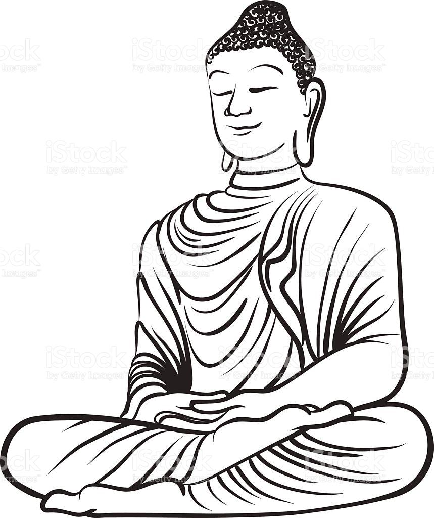 Lord buddha clipart svg library library Gautam Buddha Drawing | Free download best Gautam Buddha ... svg library library