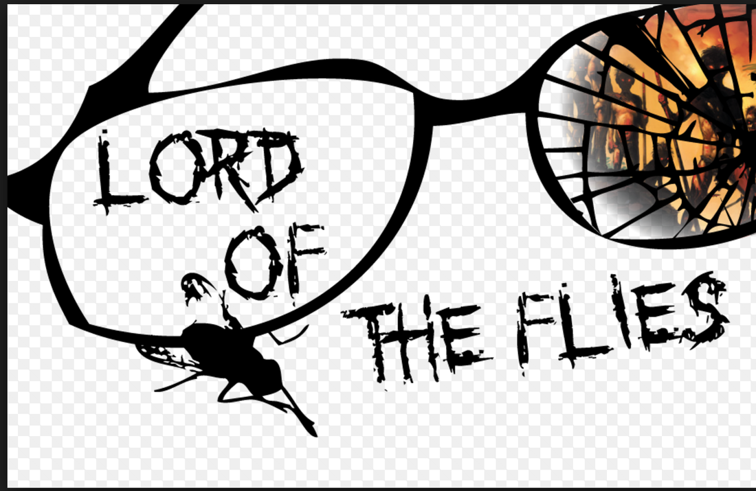 Lord of the flies black and white clipart