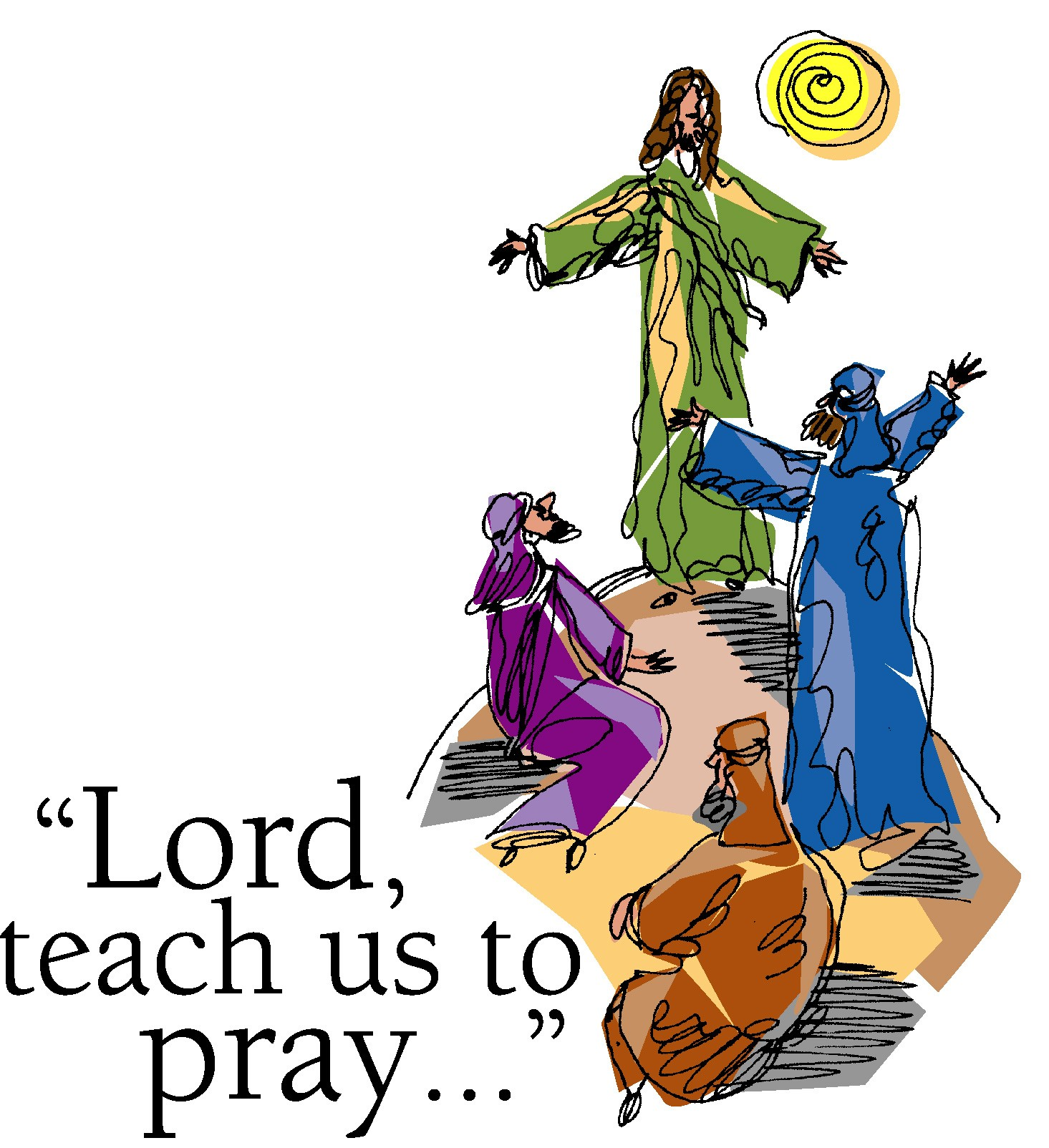 The lord-s prayer clipart picture black and white Free Lord\'s Prayer Cliparts, Download Free Clip Art, Free ... picture black and white