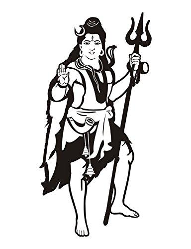 Lord shiva logo clipart vector transparent library Amazon.com: Om Aum LORD SHIVA Wall Car Black Vinyl Sticker ... vector transparent library