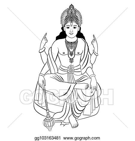 Lord vishnu clipart banner free download EPS Vector - Hindu god vishnu. vector illustration. Stock ... banner free download