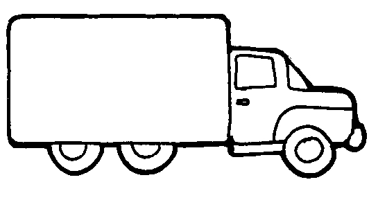Lorry clipart black and white vector freeuse library Lorry clipart black and white 1 » Clipart Station vector freeuse library